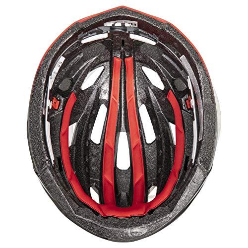 Uvex Unisex– Erwachsene, race 7 Fahrradhelm, black red, 51-55 cm - 4