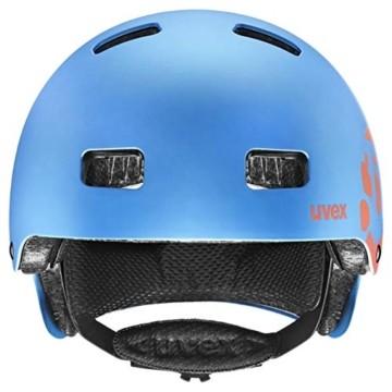 Uvex Unisex Jugend, kid 3 cc Fahrradhelm, blue mat, 55-58 cm - 2