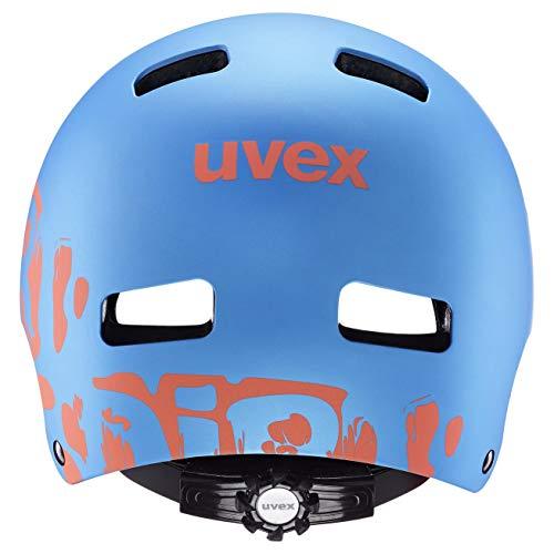 Uvex Unisex Jugend, kid 3 cc Fahrradhelm, blue mat, 55-58 cm - 3