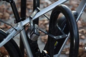 ABUS Faltschloss Bordo Alarm 6000A/90 mit Halterung - Fahrradschloss aus gehärtetem Stahl - mit Warnton - Sicherheitslevel 10 - 90 cm - 77838 - Schwarz - 4