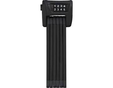 ABUS Faltschloss Bordo Combo 6100/90, Schwarz , 90 cm, 51796 - 1