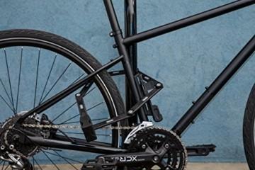 ABUS Faltschloss Bordo Granit XPlus 6500/110 mit Halterung - Fahrradschloss aus gehärtetem Stahl - Sicherheitslevel 15 - 110 cm - 78067 - Schwarz - 2