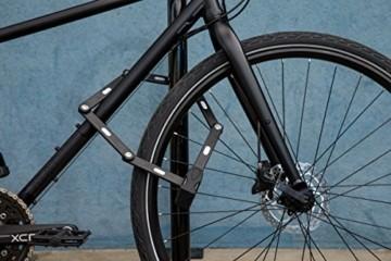 ABUS Faltschloss Bordo Granit XPlus 6500/110 mit Halterung - Fahrradschloss aus gehärtetem Stahl - Sicherheitslevel 15 - 110 cm - 78067 - Schwarz - 4