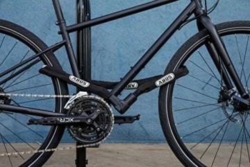 ABUS Kettenschloss Citychain 1010/85 – Fahrradschloss aus gehärtetem Stahl – Sicherheitslevel 12 – 85 cm – 33559 – Schwarz - 4