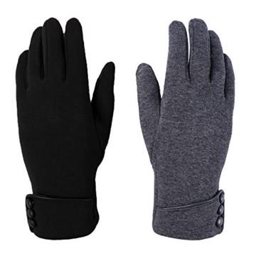 Aibrou Touchscreen Handschuhe Damen Winterhandschuhe Fahrradschuhe Frauen Handschuhe Winter Warm Handschuhe mit Fleecefutter - 2