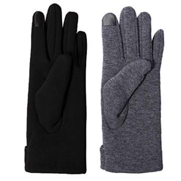 Aibrou Touchscreen Handschuhe Damen Winterhandschuhe Fahrradschuhe Frauen Handschuhe Winter Warm Handschuhe mit Fleecefutter - 4