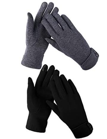 Aibrou Touchscreen Handschuhe Damen Winterhandschuhe Fahrradschuhe Frauen Handschuhe Winter Warm Handschuhe mit Fleecefutter - 1
