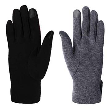 Aibrou Touchscreen Handschuhe Damen Winterhandschuhe Fahrradschuhe Frauen Handschuhe Winter Warm Handschuhe mit Fleecefutter - 6