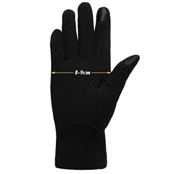 Aibrou Touchscreen Handschuhe Damen Winterhandschuhe Fahrradschuhe Frauen Handschuhe Winter Warm Handschuhe mit Fleecefutter - 7