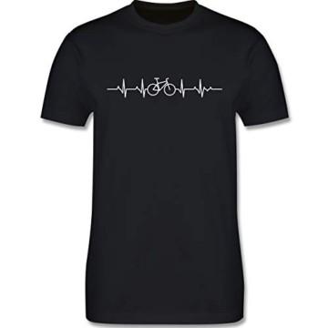 Andere Fahrzeuge - Herzschlag Fahrrad - L - Schwarz - Tshirt mit Fahrrad - L190 - Tshirt Herren und Männer T-Shirts - 3
