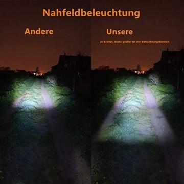 Antimi Akku Fahrradlicht Led Set Fahrradbeleuchtung USB Aufladbar StVZO Zugelassen USB Fahrradlampe Fahrradlichter mit 2 Licht-Modi - 5