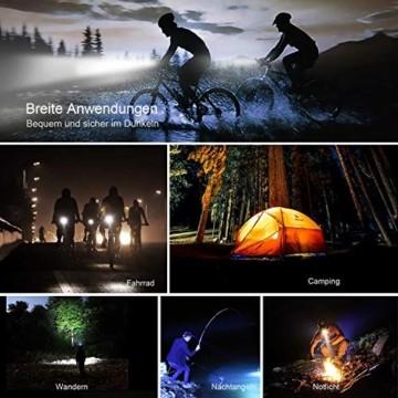 Antimi Fahrradlicht Set Wiederaufladbare, LED Fahrradlichter Fahrradlampe Set Vorne Fahrradbeleuchtung Wasserdicht mit Frontlicht Rücklicht StVZO - 6