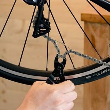 BBB Cycling Nautilus II Kettennietdrückerfür Fahrräder bis zu 11 Geschwindigkeiten, BTL-05 & Cycling LinkFix Kettengliedzange für Fahrräder, BTL-77 - 7