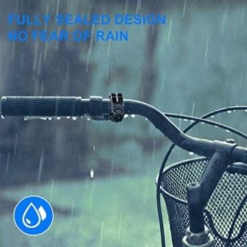 Benewell CL-7Fahrradklingel Fahrradglocke Radfahren, [2 Stück Schwarz+Blau] O Design Fahrradglocke, Fahrradhupe Klingel Glocke Hupe für Fahrrad, für 22.2-23mm Lenker - 3