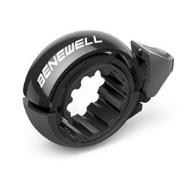 Benewell Fahrrad Klingel,Fahrradklingel Fahrradglocke für Alle Fahrräder für Lenker 22.2-31.8mm,schwarz. - 1