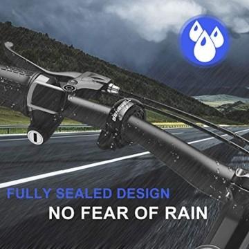Benewell Fahrrad Klingel,Fahrradklingel Fahrradglocke für Alle Fahrräder für Lenker 22.2-31.8mm,schwarz. - 6