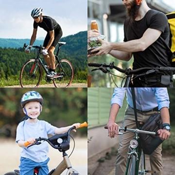 Benewell Fahrrad Klingel,Fahrradklingel Fahrradglocke für Alle Fahrräder für Lenker 22.2-31.8mm,schwarz. - 7