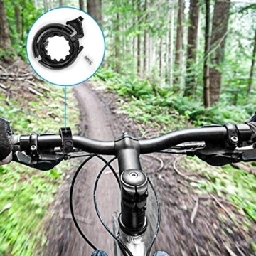 Benewell Fahrradklingel, größer Fahrradglocke für Alle Fahrrad Lenker, Q Bell Radfahren Fahrrad Glocke MTB Mountainbike Alarm Horn Ring, für 22.2-23mm Lenker (Schwarz) - 3