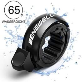 Benewell Fahrradklingel, größer Fahrradglocke für Alle Fahrrad Lenker, Q Bell Radfahren Fahrrad Glocke MTB Mountainbike Alarm Horn Ring, für 22.2-23mm Lenker (Schwarz) - 1