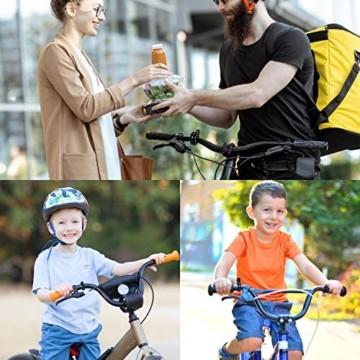 Benewell Fahrradklingel, größer Fahrradglocke für Alle Fahrrad Lenker, Q Bell Radfahren Fahrrad Glocke MTB Mountainbike Alarm Horn Ring, für 22.2-23mm Lenker (Schwarz) - 6