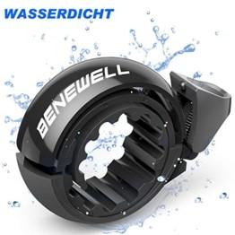 Benewell Fahrradklingel Laute, Fahrradglocke Radfahren, O Design Schwarz Fahrradklingel für Bike, Fahrradhupe Klingel für 22.2-31.8mm Lenker - 1