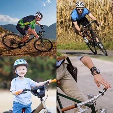 Benewell Fahrradklingel Laute, Fahrradglocke Radfahren, O Design Schwarz Fahrradklingel für Bike, Fahrradhupe Klingel für 22.2-31.8mm Lenker - 7