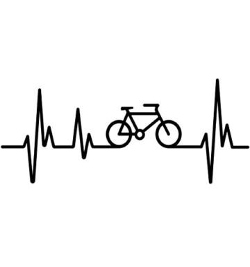buXsbaum® Herren T-Shirt Frequenz Cycle | Fahrrad Bike Rad Bicycle Velo Drahtesel | L, Schwarz - 2