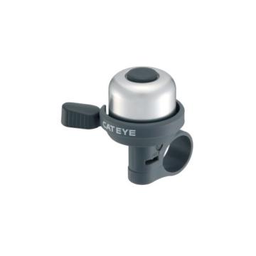 Cateye PB-1000 Wind-Bell Fahrradklingel, Silber/Schwarz, One Size -