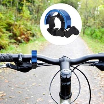 Cevikno 2 Pack Mini Fahrradklingel Fahrradlenkring Klingel Sicherheitswarnung Fahrrad Glocke laut und hell (Blau+Schwarz) - 2