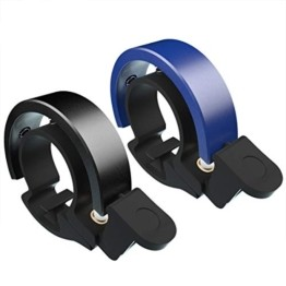 Cevikno 2 Pack Mini Fahrradklingel Fahrradlenkring Klingel Sicherheitswarnung Fahrrad Glocke laut und hell (Blau+Schwarz) - 1