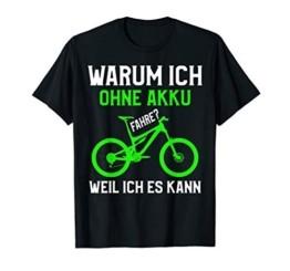 Cooles Mountainbike T-Shirt MTB ohne Akku Statement - 1
