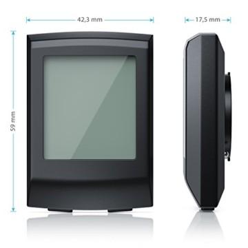 CSL - Fahrradcomputer - Fahrradtacho Radcomputer Tachometer - 8 Funktionen - Hintergrundbeleuchtung - Wasserdicht - Kilometerzähler - 2