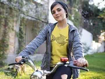 Damen Fahrrad T-Shirt: Bikes of The World Organize ! - Tailliert - Fahrrad Geschenke für Frauen Radfahrerinnen Mountain-Bike MTB BMX Fixie Rennrad Tour Outdoor Sport Frau Urban (Grün XL) - 2