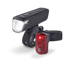 DANSI Fahrradleuchten-Set StVZO I LED-Fahrrad-Licht Akku USB aufladbar I Rad-Licht hell vorne + hinten I Fahrradbeleuchtung umschaltbar 30/15 Lux I Rücklicht & Frontleuchte Stoßfest & Regenfest - 1
