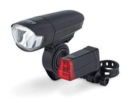 DANSI LED Fahrrad-Batterieleuchtenset, StVZO, schwarz, 44001 - 1