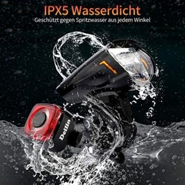 Deilin Upgraded LED Fahrradlicht Set, bis zu 70 Lux Fahrradlampe, StVZO Zugelassen USB Aufladbar Fahrradbeleuchtung, IPX5 Wasserdicht Fahrradlicht Vorne Frontlicht& Rücklicht Set - 3