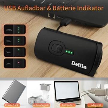 Deilin Upgraded LED Fahrradlicht Set, bis zu 70 Lux Fahrradlampe, StVZO Zugelassen USB Aufladbar Fahrradbeleuchtung, IPX5 Wasserdicht Fahrradlicht Vorne Frontlicht& Rücklicht Set - 4