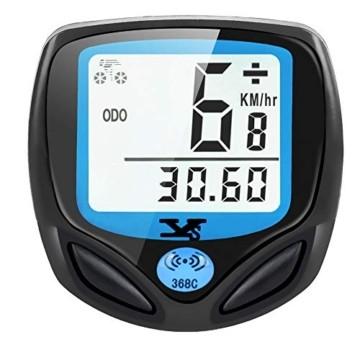 DINOKA Fahrradcomputer Digital, Drahtlos Fahrradtacho, Wasserdicht Kabellos Kilometerzähler mit Automatisches Aufwachen und LCD-Hintergrundbeleuchtung - 1