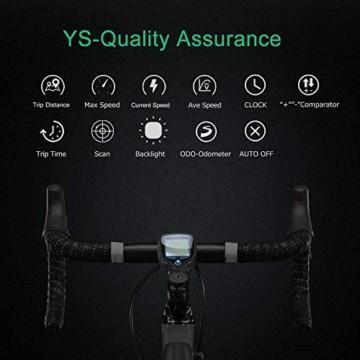 DINOKA Fahrradcomputer Digital, Drahtlos Fahrradtacho, Wasserdicht Kabellos Kilometerzähler mit Automatisches Aufwachen und LCD-Hintergrundbeleuchtung - 5