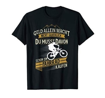 Fahrrad mountainbike rennrad glück t-shirt lustig sprüche - 1