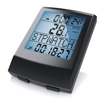 Fahrradcomputer kabellos - Fahrradtacho - Radcomputer - Tachometer - 13 Funktionen - Temperaturanzeige in °C - Hintergrundbeleuchtung - 1