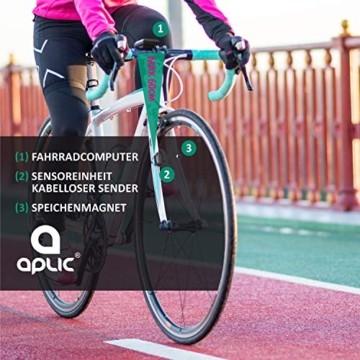Fahrradcomputer kabellos - Fahrradtacho - Radcomputer - Tachometer - 13 Funktionen - Temperaturanzeige in °C - Hintergrundbeleuchtung - 5