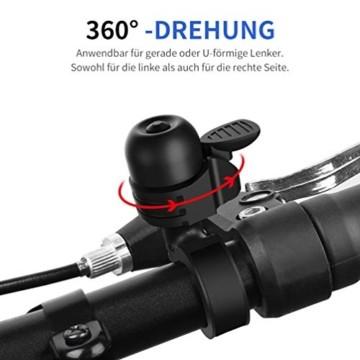 Fahrradklingel Fahrradglocke Mini Classic Brass Glocke Laut und Hell Fahrrad Klingel, Hupe für Fahrrad 360° Drehbar für Rennrad Mountainbike Citybike Kinderfahrrad Einstellbarer Lenker für 19-32mm - 4