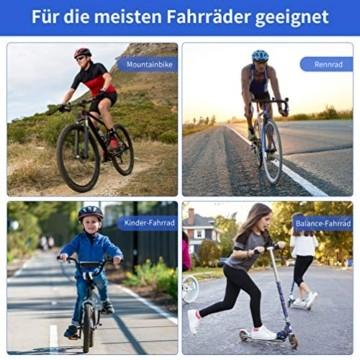 Fahrradklingel Fahrradglocke Mini Classic Brass Glocke Laut und Hell Fahrrad Klingel, Hupe für Fahrrad 360° Drehbar für Rennrad Mountainbike Citybike Kinderfahrrad Einstellbarer Lenker für 19-32mm - 7