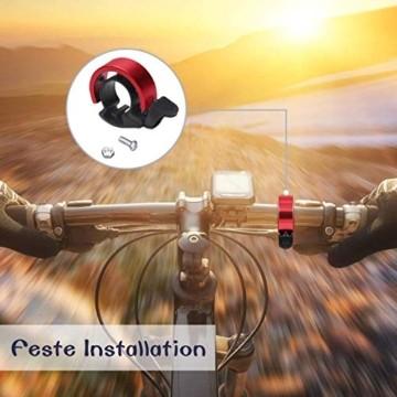 Fahrradklingel Mini Fahrradlenkring Klingel Fahrrad Glocke Fahrradzubehör, Hellen und Lauten Klang, Einfache Montage - 5