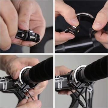 Fahrradklingel Mini Fahrradlenkring Klingel Fahrrad Glocke Fahrradzubehör, Hellen und Lauten Klang, Einfache Montage - 6