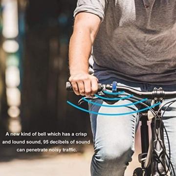 Fahrradklingel, O Design Fahrradglocke Laut Fahrrad Glocke, Mini Fahrradlenkring Klingel laut und hell Radfahren Fahrradglocke, Unsichtbar Bike Fahrrad für Bike ahrradhupe Klingel 22.2-23.8mm Lenker - 7