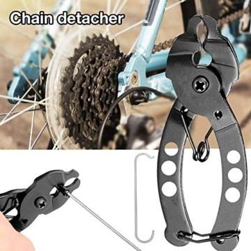 Falliback Zange Kette Werkzeuge, Fahrradkettenzange, Werkzeug Kettenverschlussgliedzange, Fahrrad Ketten Werkzeug + Ketten Prüfer, Für Chains Reparatur - 2