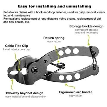 Falliback Zange Kette Werkzeuge, Fahrradkettenzange, Werkzeug Kettenverschlussgliedzange, Fahrrad Ketten Werkzeug + Ketten Prüfer, Für Chains Reparatur - 8