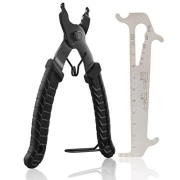 Fengzio Fahrrad Link Zange und Ketten messlehre Kettennieter Werkzeug Fahrradketten Zange und Ketten Prüfer für Rennrad Mountainbike Professionelle Präzisions Fahrrad Reparatur Werkzeug Set - 1